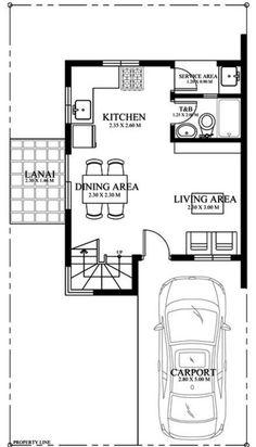 Diseno de casa en autocad 80m2 planos de casas bloques for Casa moderna 80m2