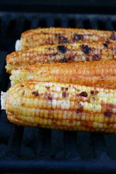 // Paprika, Lime & Grana Padano Grilled Corn