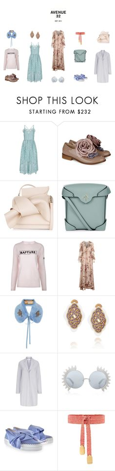 """""""Sugar-coated shades are back"""" by avenue-32 ❤ liked on Polyvore featuring Perseverance London, Pokemaoke, N°21, MANU Atelier, Bella Freud, Zimmermann, Shrimps, Anna e Alex, Harris Wharf London and Linda Farrow"""