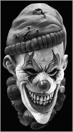 Insano The Clown Latex Creepy Head Halloween Scary Mask Costume Horror Theater Clown Scare, Evil Clown Mask, Gruseliger Clown, Joker Clown, Insane Clown, Creepy Clown, Evil Clowns, Scary Mask, Halloween Clown