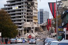 View down Victoria Street towards what was the Crown Plaza Hotel New Zealand Earthquake, Earthquake Damage, New Zealand Cities, Christchurch New Zealand, 2nd City, Plaza Hotel, Close To Home, Most Beautiful Cities