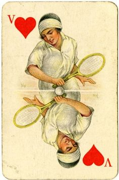Tennis, Amsterdam 1928, from the Worshipful Company of Makers of Playing Cards collection, by London Metropolitan Archives, via Flickr