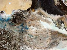"Detail shot Dromiceius 48""x48"""
