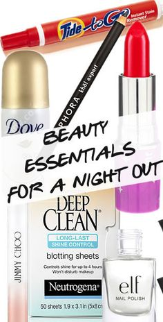 Beauty Essentials for a Night Out! The makeup essentials you should always keep in your purse: http://blog.pampadour.com/beauty-essentials-night/ #pampadour