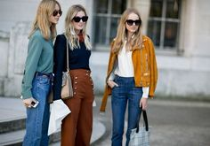 The 6 Street Style Trends That Reigned at Paris Fashion Week. Among them: suede, brown layers and goth lite. Fashion Kids, Paris Fashion, Autumn Fashion, Street Style Trends, Autumn Street Style, Mode Disco, Style Année 70, Retro Mode, Moda Paris