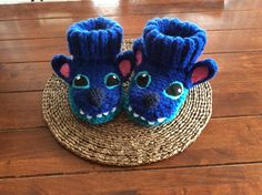 Tricot chaussons Stich