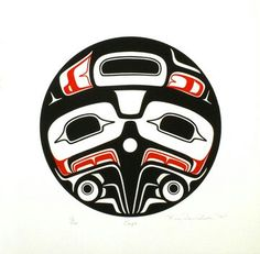 Contemporary Indigenous Art Gallery specializing in fine art from the Northwest Coast of Canada Native American Print, Native American Warrior, American Indian Art, Haida Kunst, Haida Art, Haida Tattoo, Indian Artwork, Raven Art, West Art