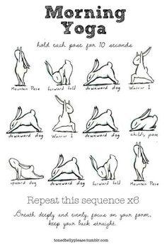 Rabbit Morning Yoga (: