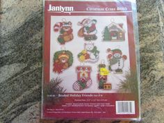 JANLYNN CHRISTMAS CROSS STITCH, BEADED HOLIDAY FRIENDS (SET OF 8) #JANLYNN #BEADEDHOLIDAYFRIENDS eBay item number:131571616938