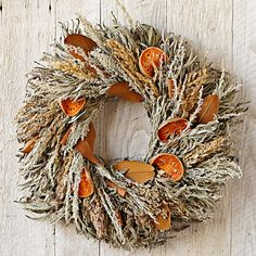Sage & Quince Wreath. Love how the orange pops out of the more muted colors.
