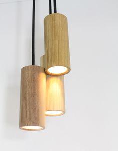 JB Pendant Light - Set of 3 Oak by Miles Dexter for M Dex Design Bamboo Light, Bamboo Lamp, Diy Pendant Light, Pendant Lighting, Pendant Lamps, Cluster, Wood Lamps, Lamp Design, Ceiling Lights