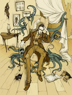 H.P. Lovecraft by Abigail Larson  One of my favorite Gothic Artists
