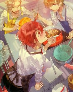 Starry Sky ~~ Boys who cook together have a great time together! :: Kanata Nanami , Yoh Tomoe , Suzuya Tohzuki