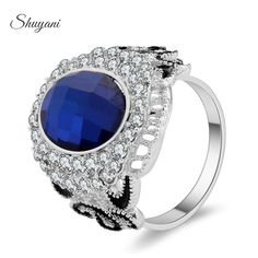 Find More Rings Information about SHUYANI Jewelry Fashion Imitation Diamond Jewelry Wedding Ring Crystal Rhinestone Ring For Women And Men SR042,High Quality ring ceramic,China ring alteration Suppliers, Cheap ring hinge from shuyani Official Store on Aliexpress.com