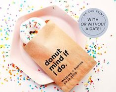 Donut Favor Bag Wedding Favor Bags Personalized Wedding | Etsy