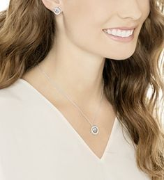 Conjunto de collar y pendientes Swarovski Generation al precio mínimo online #collares #moda
