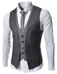 nice VE34 TheLees Mens premium layered style slim vest waist coat - For Sale Check more at http://shipperscentral.com/wp/product/ve34-thelees-mens-premium-layered-style-slim-vest-waist-coat-for-sale-3/