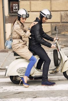 Vespa riding in Italy, Florence