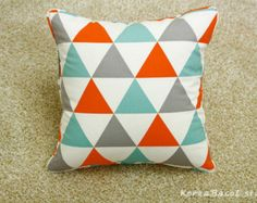 triangle print cushion - Google Search