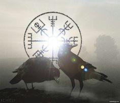 Huginn and Muninn...Thought and Memory...Odin's Ravens...
