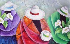 Pinturas para manualidades, cerámica y artesanía Cantek Art Péruvien, Muse Kunst, Mexican Artwork, Pop Art, Peruvian Art, Art Quilling, Feather Drawing, Inspiration Artistique, Art Tutor