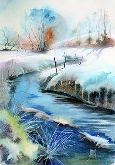 Paysage de neige – «frisquet» | Joël SIMON