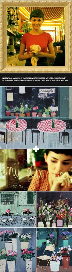 Real Art in the world of Amelie  - so cool!