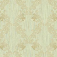 Framed Ombre Wallpaper in Green design by York Wallcoverings ($46) ❤ liked on Polyvore featuring home, home decor, wallpaper, wallpaper samples, green damask wallpaper, ombre wallpaper, damask wallpaper, green wallpaper and green home decor