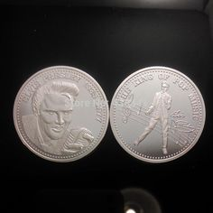 Michael Jackson coin.DHL Free shipping,Elvis presley 1935-1977 the king of pop music coin.United States Coins,NO Magentic. Yesterday's price: US $195.00 (170.47 EUR). Today's price: US $154.05 (134.67 EUR). Discount: 21%.
