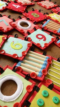 Preschool Learning Activities, Sensory Activities, Infant Activities, Hand Crafts For Kids, Projects For Kids, Diy For Kids, Sensory Book, Baby Sensory, Baby Activity Board