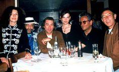 Robert de Niro entouré de Jean-Claude Chales et Hubert Boukobza en 1991