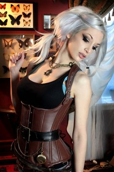 #steampunk #corset #leather #underbust #clothing