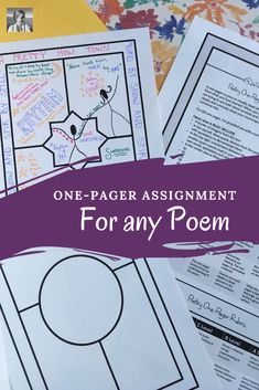 Poetry One-Pagers: This fun poetry one-pager assignment can fit well into any poetry unit. Get students thinking deeply about the text and representing their analysis creatively. Take the guesswork out of the process for your students and for you with this clear guiding template and rubric. #poetry #englishteacher Teaching Poetry, Teaching Writing, Student Teaching, Teaching English, Writing Activities, High School Classroom, English Classroom, English Teachers, Ela Classroom