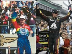 July-27-2014- #JeffGordon became the 1st NASCAR driver to win the same race 20 years apart with his victory in the Brickyard 400 today. Gordon won the inaugural Brickyard 400 in 1994. He also scored victories at Indianapolis in 1998, 2001, and 2004.