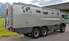 Action Mobil Atacama 7900 Expedition Vehicle: The shock system is made up of springs so you might never feel a bump no matter where you go. 6x6 Truck, Truck Camper, Trucks, Offroad Camper, Expedition Vehicles For Sale, Expedition Truck, Overland Truck, Overland Trailer, Best Campervan