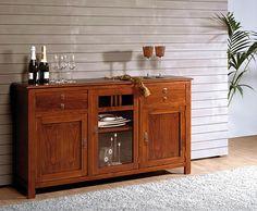 Aparador Sumbawa - también sería lindo, con cuerpo blanco y tapa en roble Crockery Cabinet, Buffet Cabinet, Sideboard, Liquor Cabinet, Cabinet Plate Rack, Plate Racks, Buffets, Cupboard, Dining Room