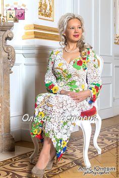 """Купить """"Королеве Людмиле"""",авторская работа - разноцветный, платье, маки, королева, подарок, свадьба"""