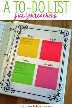 Such a cool way to create a teacher to-do list! Includes a free template to help you stay organized. The to-do list free printable is so easy to use!
