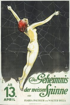 Poster for Carl Boese's silent film The White Spider, 1927  Via50 Watts