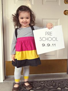 "Picture of first day holding sign with date, grade, maybe a ""what I'm most looking forward to"" statement or ""my favorites list."