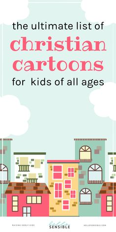 Parenting hack: Discover the best Christian cartoons for kids that include toddler shows, kid friendly movies, childhood favorite TV shows, old school cartoons, cool cartoons and more. I also included a few clean Netflix tv shows for kids, movies on Amazon Prime video, PureFlix, Right Now Media and more.   Parenting advice | Raising Godly Kids | Christian living | Christian families #hellosensible Christian Kids, Christian Families, Christian Living, Raising Godly Children, Prayers For Children, Cartoons For Toddlers, Cartoon Kids, Grace Based Parenting, Parenting Advice