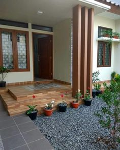 Simple House Design, House Front Design, Minimalist House Design, Minimalist Home, Home Building Design, Home Room Design, Home Design Plans, Piscina Rectangular, Craftsman Style Doors