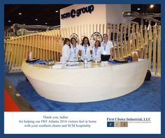 """Word around the Georgia Congress Center, hroughout last week at IWF Atlanta 2014, was that the gals at SCM Group's reception desk, were """"Best of Show for Genuine Hospitality and Helpfulness"""". Thank you, Ladies!"""