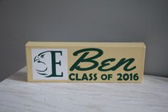 CUSTOM Graduation Sign Class of 2016 Sign College by EntropySigns