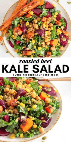 Healthy Salad Recipes, Raw Food Recipes, Beef Recipes, Vegetarian Recipes, Dinner Recipes, Breakfast Recipes, Recipies, Vegetarian Lifestyle, Roasted Beet Salad