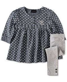 00735e45f14a4 Calvin Klein Baby Girls' 2-Piece Tunic & Leggings Set & Reviews - Kids -  Macy's