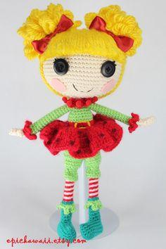 PATRÓN: Holly Crochet Amigurumi Doll por epickawaii en Etsy