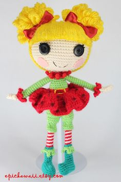 PATTERN: Holly Crochet Amigurumi Doll by epickawaii on Etsy
