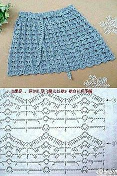 Fabulous Crochet a Little Black Crochet Dress Ideas. Georgeous Crochet a Little Black Crochet Dress Ideas. Crochet Skirt Pattern, Crochet Skirts, Crochet Stitches Patterns, Crochet Designs, Crochet Clothes, Skirt Patterns, Coat Patterns, Blouse Patterns, Knitting Patterns