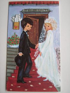 ... #1970s #wedding #card